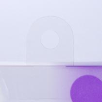 イメージ画像のような陳列用フック等、紙製の化粧箱とほぼ同じ加工が可能です