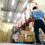 本社内に倉庫を設置しているので、資材販売時の発送も迅速に行います